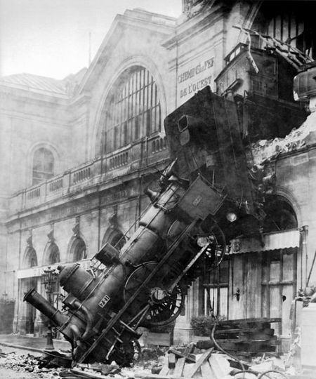 Un tren en París, alrededor de 1895